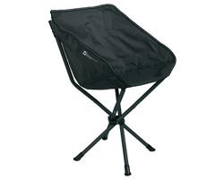 Značková skládací kempingová židle Schwarzwolf BODEN, nosnost 110 kg - šedá / černá