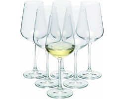 Značková sada sklenic Bohemia Crystal na bílé víno Vanilla Season MORETON 6, 250 ml - transparentní