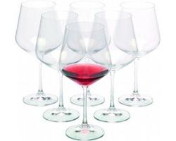 Značková sada sklenic na víno Bohemia Crystal Vanilla Season WANAKA 6, 570 ml - transparentní