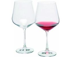 Značková sada sklenic na červené víno Bohemia Crystal Vanilla Season WANAKA 2, 570 ml - transparentní