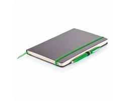Poznámkový zápisník DESIRE, formát A5 s perem - zelená
