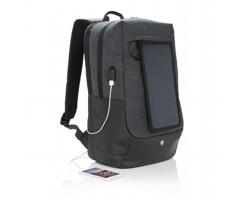 Praktický batoh Swiss Peak SULLIVAN se solární nabíječkou - černá