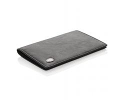 Značkové kožené pouzdro Swiss Peak BOW na doklady a 8 karet s RFID/NFC ochrannou - černá