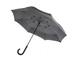 """Automatický 23"""" deštník HUGS obráceným zavíráním - šedá"""