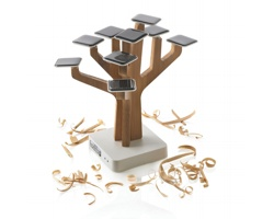 Solární nabíječka VINCENC ve tvaru stromu - hnědá