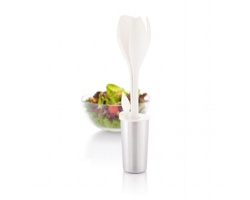 Souprava na salát MADIE ve tvaru tulipánu - bílá