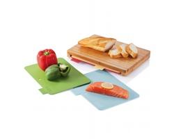 Kuchyňské prkénko PAT se 4 hygienickými deskami - hnědá