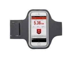 Běžecké pouzdro pro chytrý telefon AURAL s kapsou na drobnosti - šedá