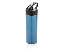 Nerezová sportovní láhev CONG s brčkem, 500ml - modrá