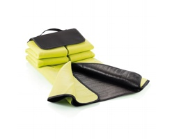 Fleecová pikniková deka FOXES s uchem pro přenášení v ruce - zelená