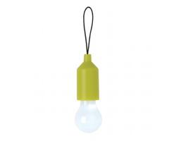 Plastová mini verze LED svítilny ORINASAL v designu žárovky - zelená