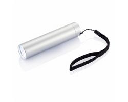 LED svítilna JOANE s poutkem - stříbrná
