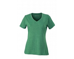 Dámské tričko James & Nicholson Ladies Heather T-Shirt