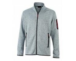 Pánská pletená bunda James & Nicholson Mens Knitted Fleece Jacket