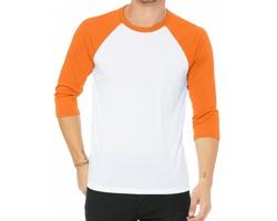 Unisexové tričko Bella & Canvas Baseball
