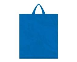 Igelitová PE taška tmavě modrá - 400x460mm, páskové ucho a složené dno