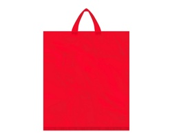 Igelitová PE taška červená - 400x460mm, páskové ucho a složené dno