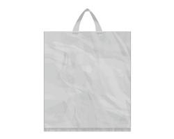 Igelitová PE taška stříbrná - 400x460mm, páskové ucho a složené dno