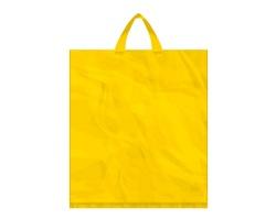 Igelitová PE taška žlutá - 400x460mm, páskové ucho a složené dno