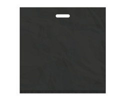 Igelitová PE taška černá - 550x550mm, pevný průhmat a složené dno