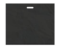 Igelitová PE taška černá - 650x550mm, pevný průhmat a složené dno