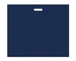 Igelitová PE taška tmavě modrá - 650x550mm, pevný průhmat a složené dno