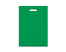 Igelitová PE taška zelená - 350x500mm, pevný průhmat a složené dno