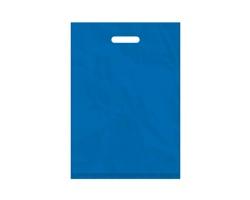 Igelitová PE taška světle modrá - 350x500mm, pevný průhmat a složené dno