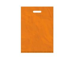 Igelitová PE taška oranžová - 350x500mm, pevný průhmat a složené dno