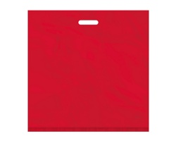 Igelitová PE taška červená - 550x550mm, pevný průhmat a složené dno