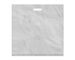 Igelitová PE taška stříbrná - 550x550mm, pevný průhmat a složené dno