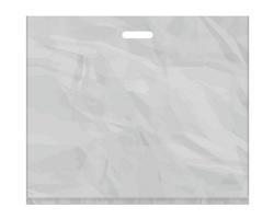 Igelitová PE taška stříbrná - 650x550mm, pevný průhmat a složené dno