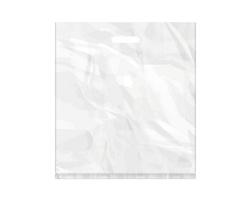 Igelitová PE taška bílá - 450x500mm, pevný průhmat a složené dno