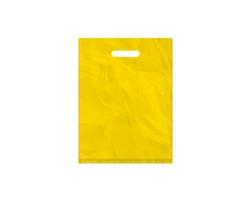 Igelitová PE taška žlutá - 300x400mm, pevný průhmat a složené dno
