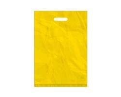 Igelitová PE taška žlutá - 350x500mm, pevný průhmat a složené dno