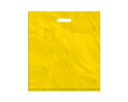 Igelitová PE taška žlutá - 450x500mm, pevný průhmat a složené dno