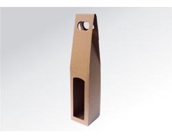 Papírová krabice na 1 lahev vína ALTO - 8 x 40 x 8 cm - hnědá