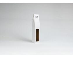 Papírová krabice na 1 lahev vína ALTO - 8 x 40 x 8 cm - bílá