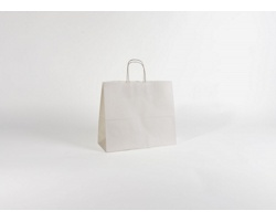 Papírová taška BIANCO - 32 x 28 x 13 cm