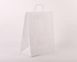 Papírová taška BIANCO - 35 x 44 x 18 cm - bílá