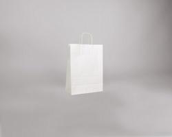 Papírová taška BIANCO TWIST - 24 x 33 x 11 cm - bílá
