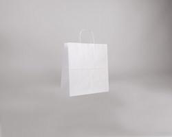 Papírová taška BIANCO TWIST - 30,5 x 34 x 17 cm - bílá