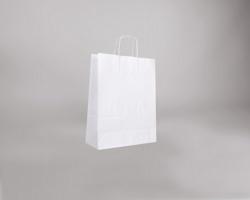 Papírová taška BIANCO TWIST - 32 x 42 x 14 cm - bílá