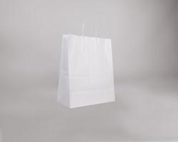 Papírová taška BIANCO TWIST - 35 x 44 x 18 cm - bílá