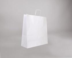 Papírová taška BIANCO TWIST - 45 x 48 x 17 cm - bílá