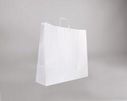 Papírová taška BIANCO TWIST - 54 x 49 x 15 cm - bílá
