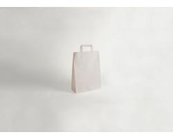 Papírová taška CLASSIC WHITE (BS) - 18 x 25 x 8 cm