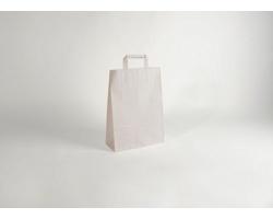 Papírová taška CLASSIC WHITE (BS) - 23 x 32 x 10 cm