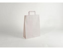 Papírová taška CLASSIC WHITE (BS) - 32 x 42,5 x 13 cm