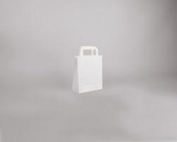 Papírová taška BS CRAFT - 18 x 22 x 8 cm - bílá